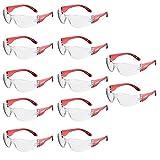 12 x voltX 'GRAFTER' Leichte Industrieschutzbrillen, CONTRAKTOREN RABATT Mengen Paket, CE EN166F zertifiziert / Radsport Sportbrillen (Klar Linsen) Anti-Fog und Anti-Kratzer. Klasse 1 UV-Schutz - Safety Glasses