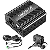 Neewer 1-Channel 48V Phantom Power Supply with Adapter Microphone Music Recording Equipment (8 feet)