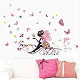 Wand Aufkleber brezeh 3D Wall Paper schön super Billig New Butterfly Flower Fairy Aufkleber Schlafzimmer Wohnzimmer Wände