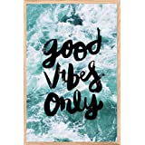 SHOP KING, | Cool,| Trendy, Quirky Rolled Posters,| Digital Painting For | Living Room, | Bedroom, | Desk | & Office Motivational Quote | Good Vibes Only Design, Add Some Quirkiness To Your Walls (12 X 18 In), Wall Frames Are Not Included - Only Poste