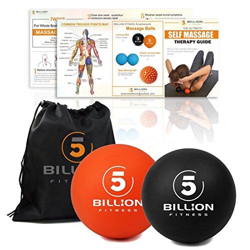 5BILLION Palline Massaggianti - Mobilità Balls & Lacrosse Palle per la Terapia Fisica - Ad Alta densità Strumento di Massaggio per Deep Tissue, Release miofasciale, Muscle Relax, Massaggi Accupoint