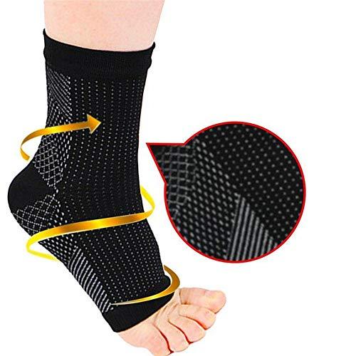 Calze sportive a compressione alla caviglia, vene varicose anti-affaticamento, fascite plantare, alleviare il dolore ai piedi, ridurre il gonfiore L/XL