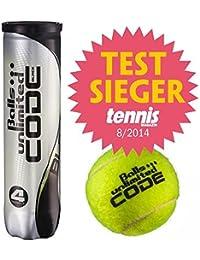 12 Tennisballs Unlimited Black Code 3X4 tin Test Winner Tennismagazin 08/2014