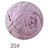 UGUAX Milch Baumwolle garn Baumwolle feine handgewebte häkeln Stricken Baby line Kleidung garn warm weiches garn für Pullover hüte schals DIY, Multicolor