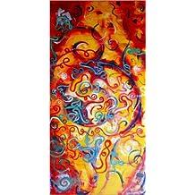 Cuadro sobre lienzo 60 x 120 cm: oriental colors de Svetlin Rusev - cuadro terminado, cuadro sobre bastidor, lámina terminada sobre lienzo auténtico, impresión en lienzo