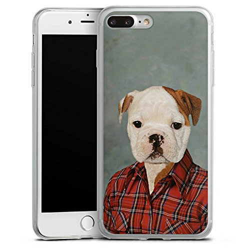 Apple iPhone 8 Slim Case Silikon Hülle Schutzhülle Hund Dog Bulldogge Silikon Slim Case transparent