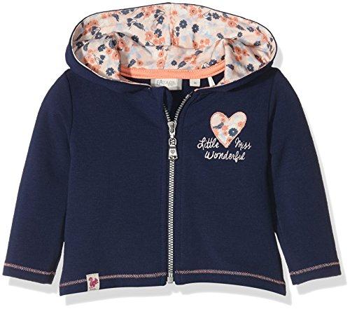 Sanetta Sanetta Baby-Mädchen Kapuzenpullover 113733, Blau (Swallow Blue 50192), 56