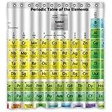 dalliy Custom cortina de ducha de la tabla periódica de poliéster 167cm x 183cm, poliéster, E, 66