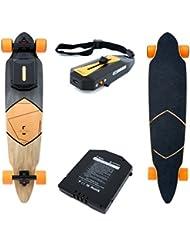 RAM E pour longboard Cruiser Skateboard électrique landwheel, portée 35KM/H rapide, 15km 3200mAh Batterie avec télécommande et câble de chargement