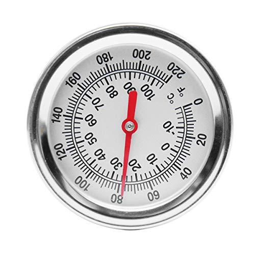 RanDal Kompost Boden Thermometer Garten Bimetal Edelstahl Messprobe (Edelstahl-kompost-thermometer)
