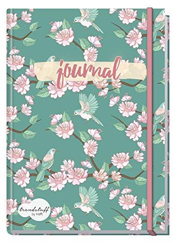 Bullet Journal dotted A5 mit Gummiband [Frühling] von Trendstuff by Häfft   Notizbuch, Tagebuch -...