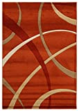 Viva 18999 Terra Teppich, Synthetikfaser, rot/beige, 120 x 170 x 2,04 cm