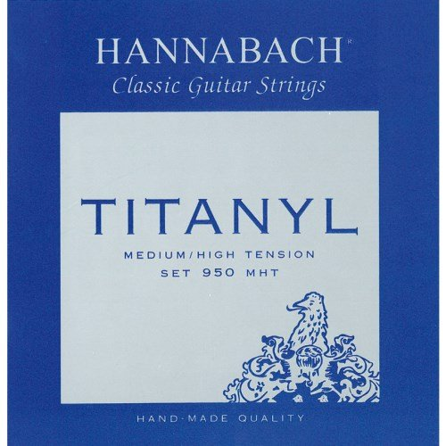 Hannabach 653159 Klassikgitarrensaiten Serie 950 Medium / High Tension Titanyl 3er Bass (Titan-gitarren-saiten)