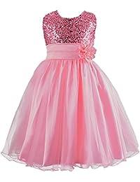 Free Fisher Mädchen Pailletten Kleid Blumenkleid