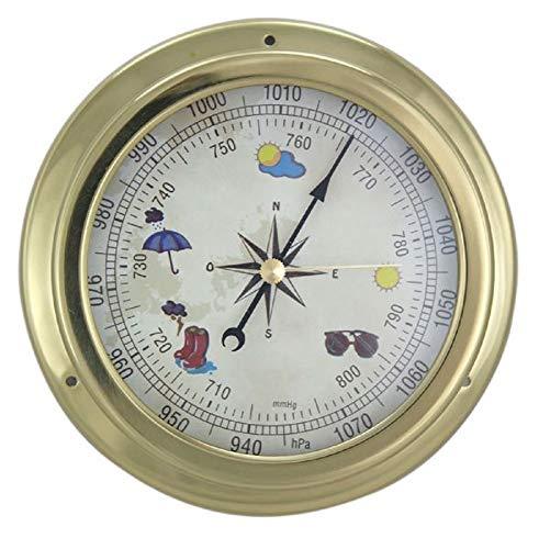 Linoows - Barómetro con Esfera de latón 14,5 cm de diámetro