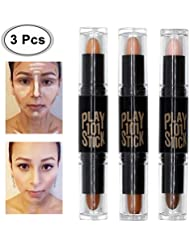 Concealer, Contour Mit, Concealer Contour, Contouring und Highlighter in einem, 6 Colour Make up Concealer contouring stift, Bronzer, Kontur stift Und Highlighter Make-Up Für Jeden Hauttyp, 3PCS