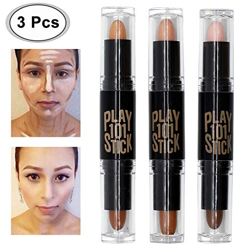 Concealer, Contour, Concealer Contour, Contouring und Highlighter in einem, 6 Colour Make up Concealer contouring stift, Bronzer, Kontur stift Und Highlighter Make-Up Für Jeden Hauttyp, 3PCS -
