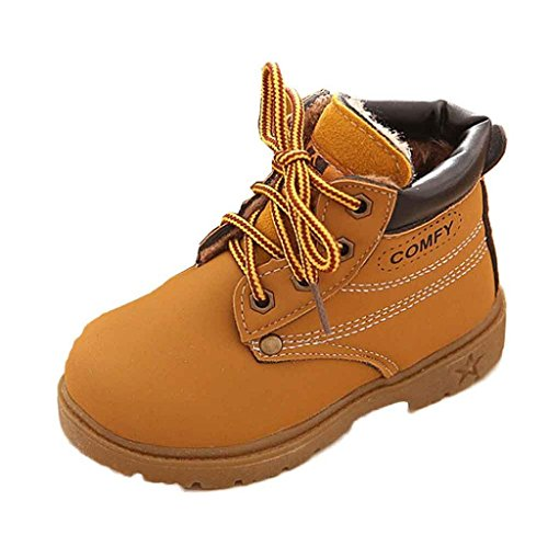 Winter Baby Jungen Mädchen Martin Stiefel Covermason Schneestiefel Warme Schuhe (21(12-18 Monat), Gelb)