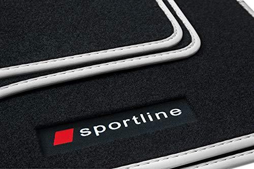 ßmatten Gummimatten Sportline Design Bandeinfassung Ziernähte, Farbe Bandeinfassung:Silber ()