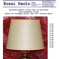 Pantalla Parasol tronco Cono de sintética Pergamino Antiguo–Producción propria–Made in Italy