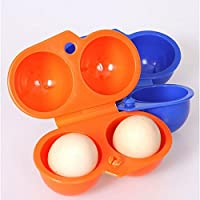 Teabelle - Caja de Almacenamiento Portátil para Huevos para Senderismo o Acampada, para 2 Huevos