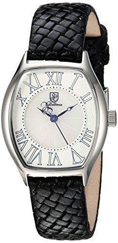 S.COIFMAN WOMEN'S BLACK LEATHER BAND STEEL CASE QUARTZ WHITE DIAL WATCH SC0383