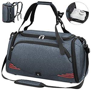 NUBILY Sporttasche für Männer Frauen 40L 65L mit Schuhfach Wasserdicht Reisetasche Weekender Herren Trainingstasche…