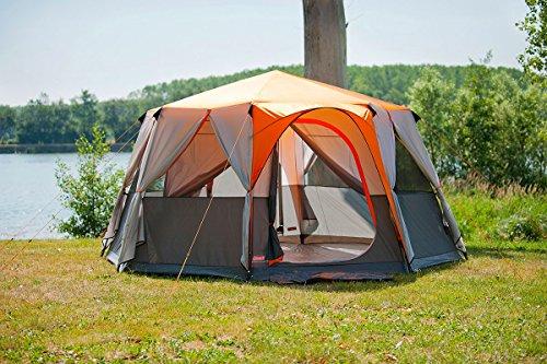 Coleman Cortes Octagon 8 Tent – Orange/Grey