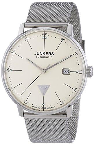 Junkers Herren-Armbanduhr XL Bauhaus Analog Automatik Edelstahl 6050M5