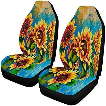 Drew Tours Coprisedili per Auto Anteriori con Farfalle botaniche estive Vintage, coprisedili per Auto, Protezioni per sedili per Veicoli, Misura per la Maggior Parte dei Veicoli, Auto 255667-ASC-608