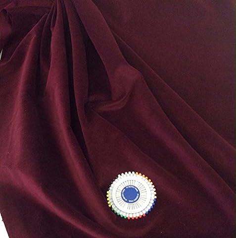 taping d'un mètre Coton Couture Tissu en velours–15couleurs disponibles