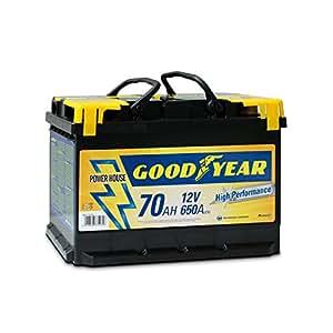 GoodYear 77516 Bottari 77516: Batterie de Voiture 12V 70 AH GOODYEAR