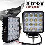 Safego OFF-ROAD faretto faro da lavoro a LED 48 W 12 V lampada di lavoro trattore 4 x 4 Truck 30 gradi impermeabile 48 ws-sp confezione da 2
