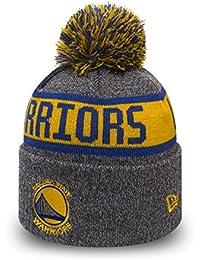 Bonnet à Pompon NBA Marl Knit Golden State Warriors gris NEW ERA