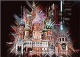 Poster 70 x 50 cm: Moskau Basilius-Kathedrale von Peter