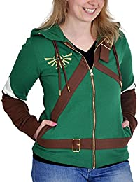 Officiel Womens Legend of Zelda, Link Cosplay Costume Style Hoodie