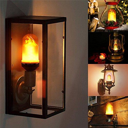 LED Bombilla, BAFFECT Led llama bulbos parpadeo bombillas E27 7W luces creativas con atmósfera iluminación decorativa lámparas para el hogar, Partido, Bar, boda, Navidad decoración del festival [Clase