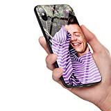 Coque en Verre trempé A-134 One Direction Tattoos Harry Styles Souple Silicone TPU Cover for iPhone 7 Plus/8 Plus 1
