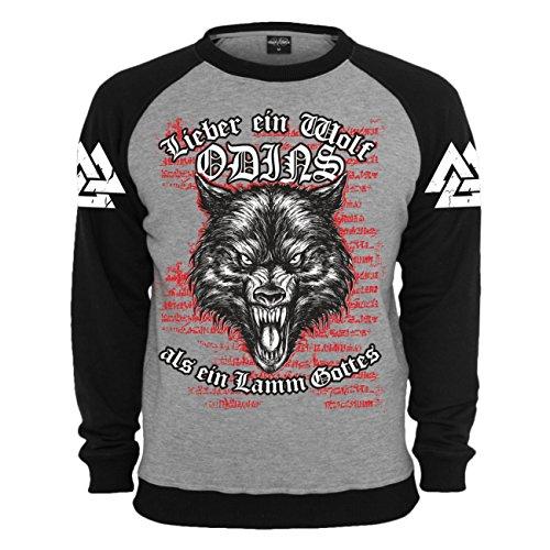 Spaß kostet Männer und Herren Pullover Wikinger Wolf Odins