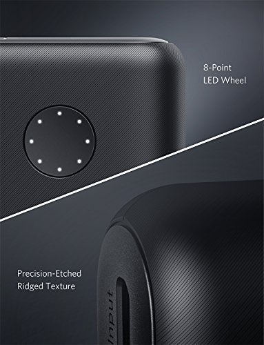 Anker PowerCore II 20000mAh Powerbank externer Akku mit PowerIQ 2.0 und zwei USB-A Ports, lädt iPhone X 8 8Plus 7 6s 6Plus, und Samsung Galaxy und weitere Geräte (Schwarz)
