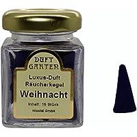 Luxus Duft Räucherkegel - Weihnacht - Räucherkerzen Duftkegel 15 Stück im Glas preisvergleich bei billige-tabletten.eu