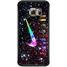 Nike Just Do It Galaxy Nebula Case / Color Negro Plastic / Device Samsung Galaxy S7 Edge
