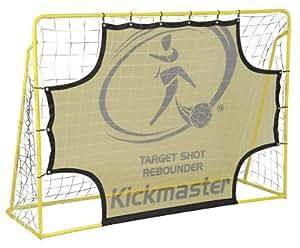 Kickmaster Kids Target Shot and Rebounder - Yellow, 5ft