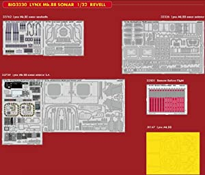 Eduard EDBIG3330 Big Ed Set 1:32-Lynx MK.88 Sonar (Revell) Accesorios fotograbados, Varios