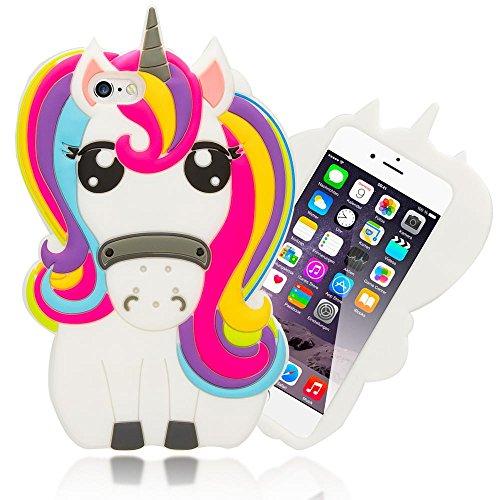 iPhone 6 6S 3D Hülle Handyhülle von NICA, Dünnes Silikon Cartoon-Case Cover Stoßfeste...