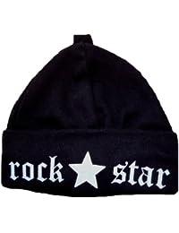 Babymajawelt Bonnet pour bébé Motif Rockstar/noir