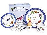 Martin Gulliver Designs Geschenkset Dinosaurier, Melamin, 7-teilig