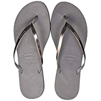Havaianas You Metallic, Women's Slippers, Grey (Steel Grey), 41/42 EU