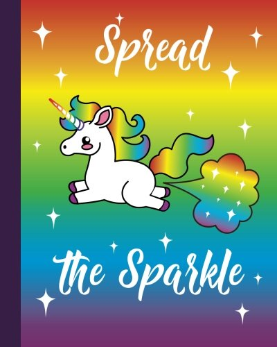 Unicorn Fart Rainbow Emoji Quote Journal: Unicorn Writing Book - 8