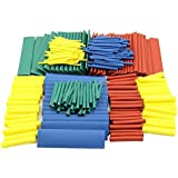 TOOGOO(R) 280Pcs 8 Sizes Assorted 2:1 Heat Shrink Tubing Tube Wrap Sleeve Wire Cable Kit